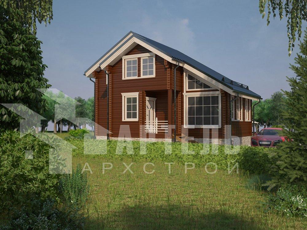 двухэтажный дом из профилированного бруса площадью до 100 кв. м. с  мансардой, проект Вариант 5.6 А фотография 4208