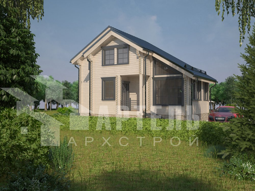 двухэтажный дом из профилированного бруса площадью до 100 кв. м. с  мансардой, проект Вариант 5.6 А фотография 4214