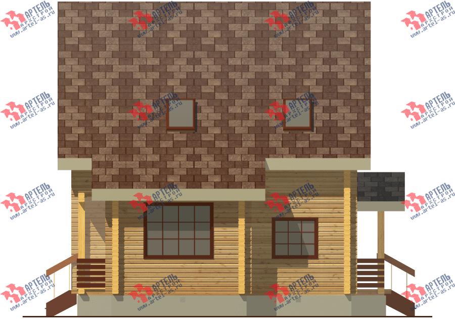 двухэтажный дом из бруса площадью от 100 до 150 кв. м. с  балконом, мансардой, проект Вариант 8 Ф фотография 3336