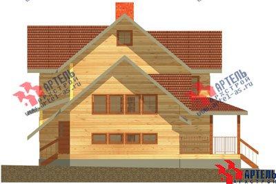 трёхэтажный дом из бруса площадью свыше 200 кв. м. с  гаражом, мансардой, террасой, проект Вариант 11.2 А фотография 1365