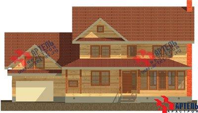 трёхэтажный дом из бруса площадью свыше 200 кв. м. с  гаражом, мансардой, террасой, проект Вариант 11.2 А фотография 1366