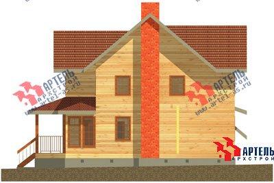 трёхэтажный дом из бруса площадью свыше 200 кв. м. с  гаражом, мансардой, террасой, проект Вариант 11.2 А фотография 1367