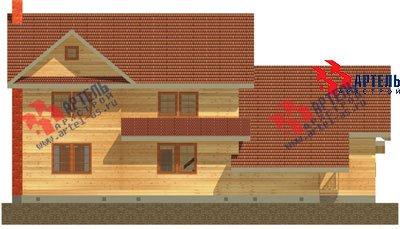 трёхэтажный дом из бруса площадью свыше 200 кв. м. с  гаражом, мансардой, террасой, проект Вариант 11.2 А фотография 1368