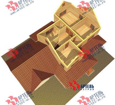 трёхэтажный дом из бруса площадью свыше 200 кв. м. с  гаражом, мансардой, террасой, проект Вариант 11.2 А фотография 1370