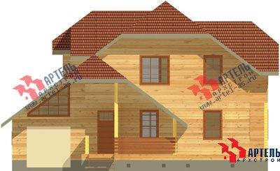 двухэтажный дом из бруса площадью свыше 200 кв. м. с  гаражом, террасой, проект Вариант 13 Б фотография 1475