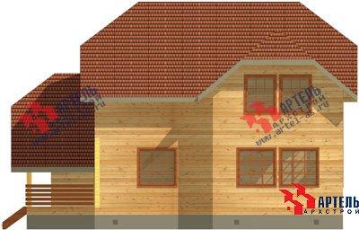 двухэтажный дом из бруса площадью свыше 200 кв. м. с  гаражом, террасой, проект Вариант 13 Б фотография 1476