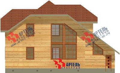 двухэтажный дом из бруса площадью свыше 200 кв. м. с  гаражом, террасой, проект Вариант 13 Б фотография 1477