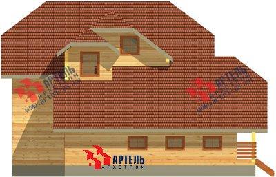 двухэтажный дом из бруса площадью свыше 200 кв. м. с  гаражом, террасой, проект Вариант 13 Б фотография 1478