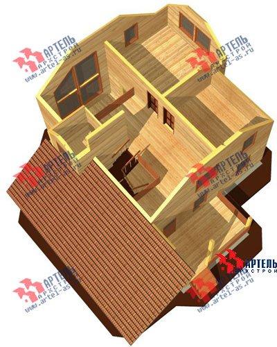 двухэтажный дом из бруса площадью свыше 200 кв. м. с  гаражом, террасой, проект Вариант 13 Б фотография 1474