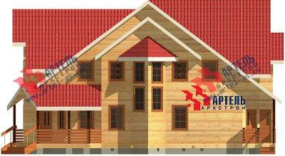трёхэтажный дом из бруса площадью свыше 200 кв. м. с  мансардой, террасой, эркером, проект Вариант 15.6 А фотография 1505
