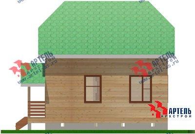 двухэтажный дом из профилированного бруса площадью до 100 кв. м. с  мансардой, проект Вариант 6 Г фотография 693