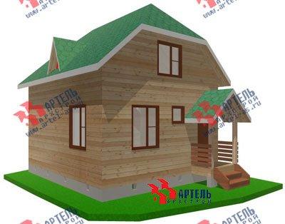 двухэтажный дом из профилированного бруса площадью до 100 кв. м. с  мансардой, проект Вариант 6 Г фотография 698