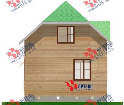 двухэтажный дом из профилированного бруса площадью до 100 кв. м. с  мансардой, проект Вариант 6 Г фотография 695