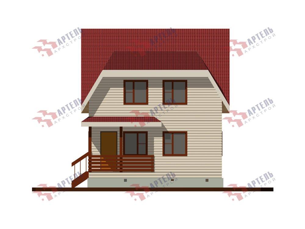 двухэтажный дом из профилированного бруса площадью до 100 кв. м. с  мансардой, проект Вариант 6 Д фотография 5787