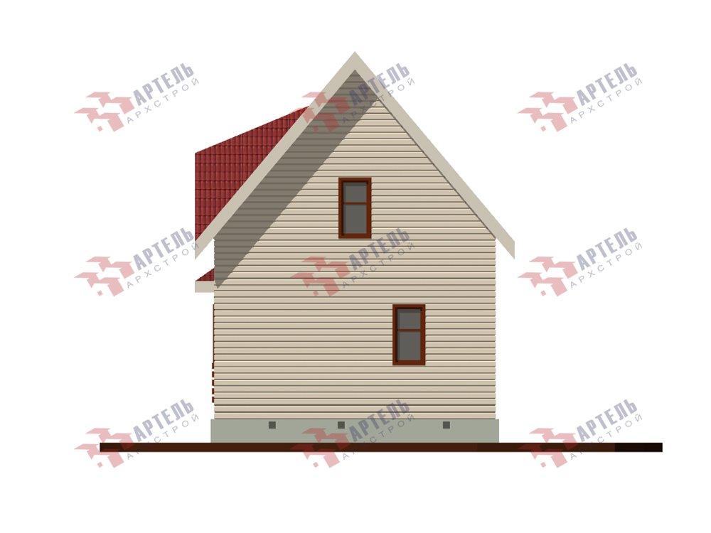 двухэтажный дом из профилированного бруса площадью до 100 кв. м. с  мансардой, проект Вариант 6 Д фотография 5788