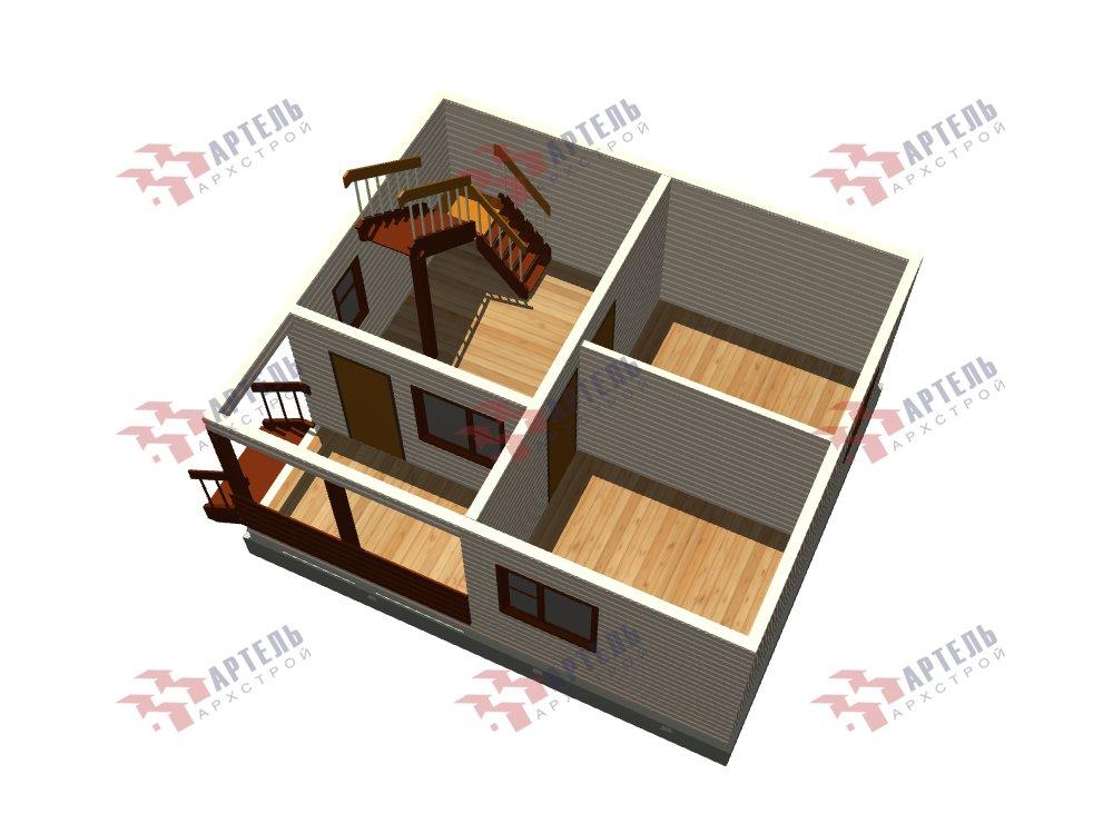 двухэтажный дом из профилированного бруса площадью до 100 кв. м. с  мансардой, проект Вариант 6 Д фотография 5791