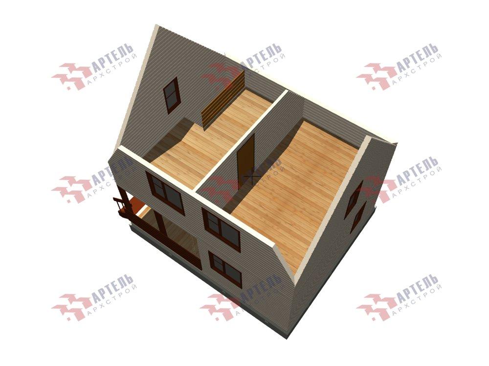 двухэтажный дом из профилированного бруса площадью до 100 кв. м. с  мансардой, проект Вариант 6 Д фотография 5792