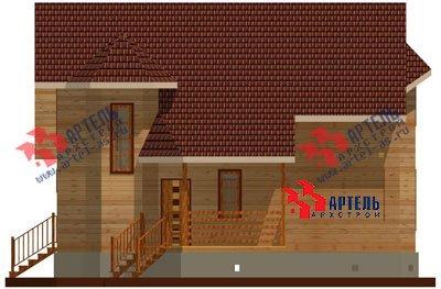 двухэтажный дом из бруса площадью от 150 до 200 кв. м. с  мансардой, эркером, проект Вариант 8.8 А фотография 1167