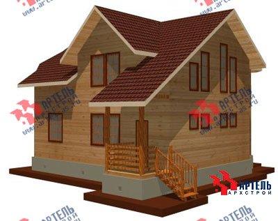 двухэтажный дом из бруса площадью от 150 до 200 кв. м. с  мансардой, эркером, проект Вариант 8.8 А фотография 1166