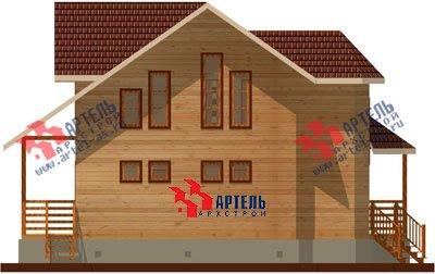 двухэтажный дом из бруса площадью от 150 до 200 кв. м. с  мансардой, эркером, проект Вариант 8.8 А фотография 1170