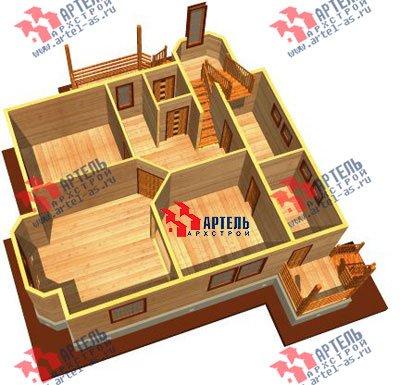 двухэтажный дом из бруса площадью от 150 до 200 кв. м. с  мансардой, эркером, проект Вариант 8.8 А фотография 1171