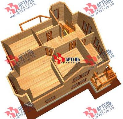 двухэтажный дом из бруса площадью от 150 до 200 кв. м. с  мансардой, эркером, проект Вариант 8.8 А фотография 1172