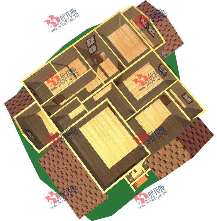 двухэтажный дом из бруса площадью свыше 200 кв. м. с  мансардой, террасой, проект Вариант 11.1 А фотография 2578
