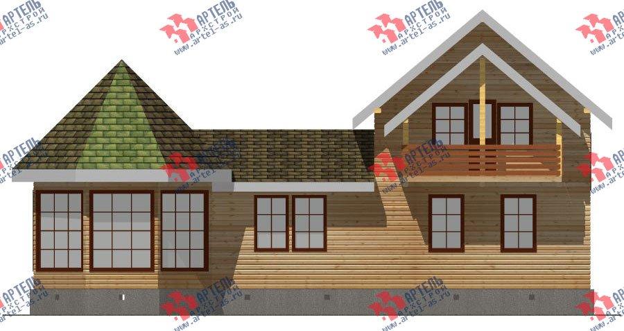 двухэтажный дом из профилированного бруса площадью от 150 до 200 кв. м. с  балконом, мансардой, эркером, проект Вариант 9 Е-1 фотография 2597
