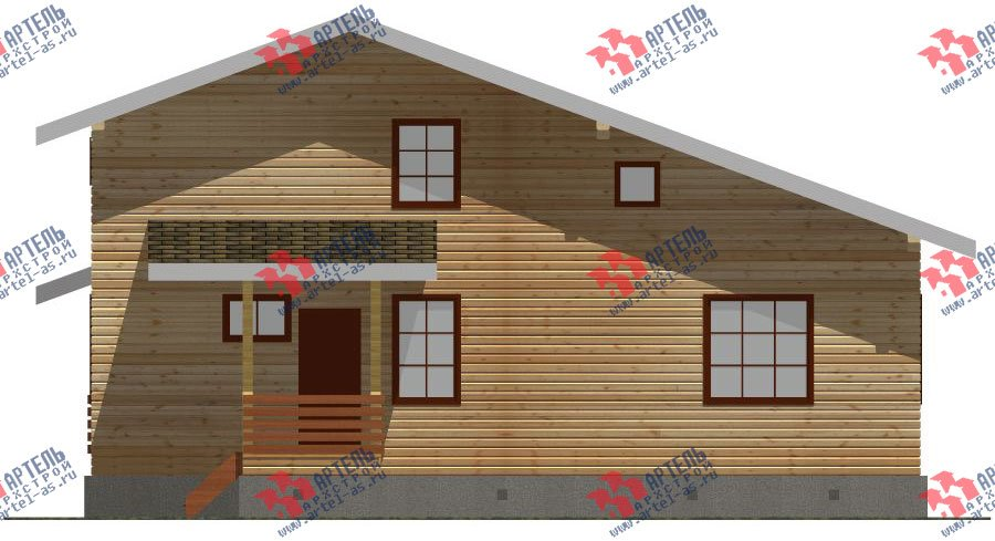 двухэтажный дом из бруса площадью свыше 200 кв. м. с  мансардой, террасой, проект Вариант 11 Л-1 фотография 2629