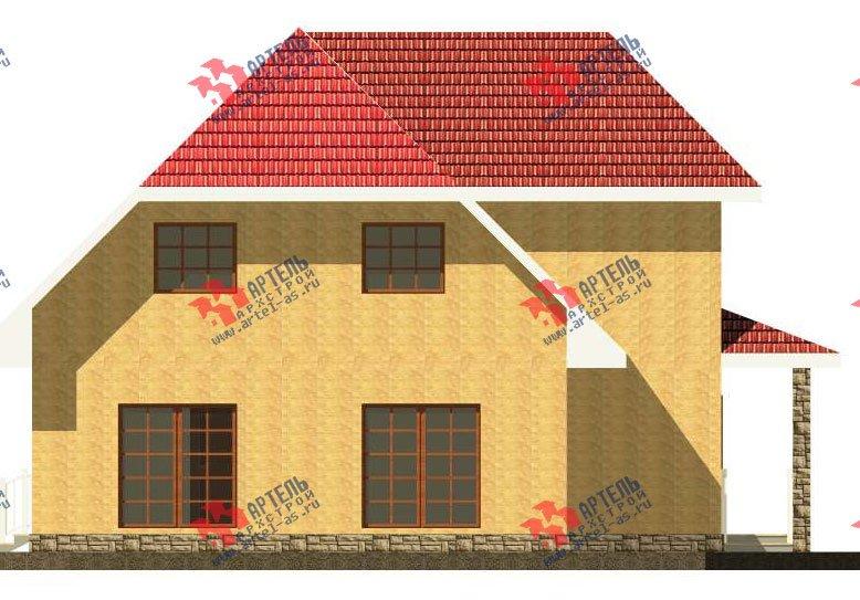 двухэтажный дом из камня площадью свыше 200 кв. м. с  верандой, проект Вариант 22 фотография 2695