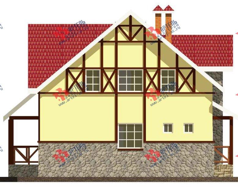 двухэтажный дом из камня площадью свыше 200 кв. м. с  балконом, эркером, проект Вариант 23 фотография 2716