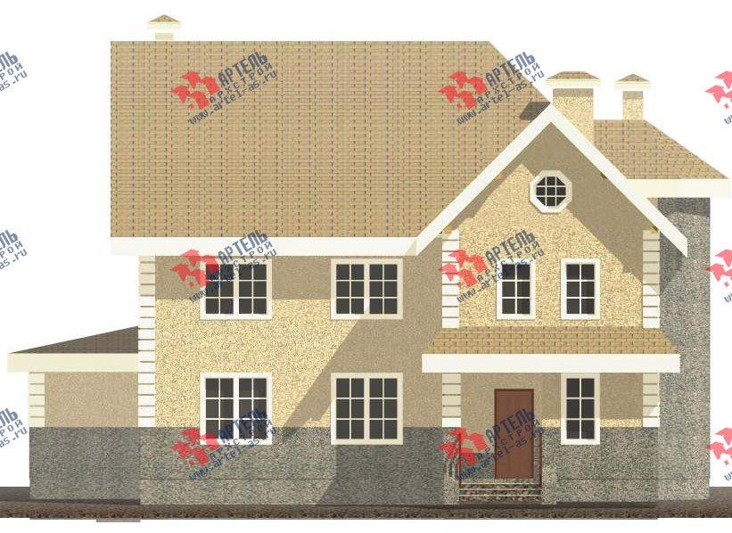 трёхэтажный дом из камня площадью свыше 200 кв. м. с  балконом, мансардой, эркером, проект Вариант 24 фотография 2745