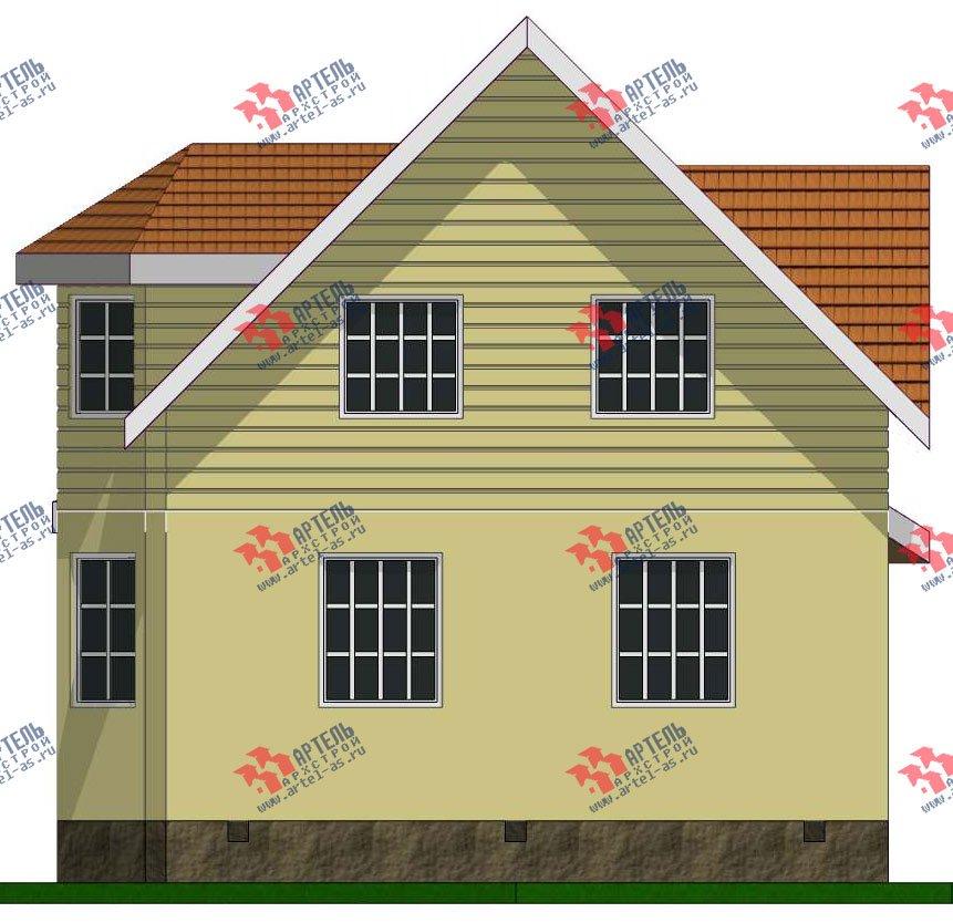 двухэтажный дом из профилированного бруса камерной сушки площадью от 100 до 150 кв. м. с  мансардой, эркером, проект Вариант 7 фотография 2803