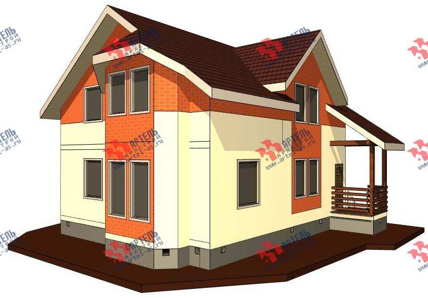 двухэтажный дом из профилированного бруса камерной сушки площадью от 150 до 200 кв. м. с  террасой, эркером, проект Вариант 8 фотография 2808