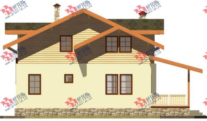 двухэтажный дом из профилированного бруса площадью от 150 до 200 кв. м. с  балконом, террасой, эркером, проект Вариант 10.8 А фотография 4784