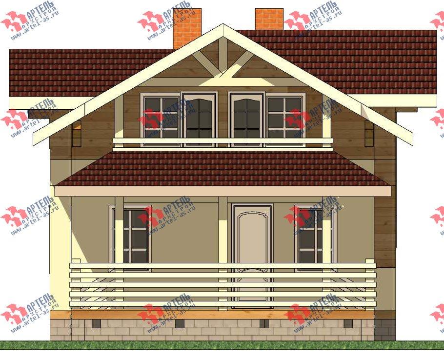 двухэтажный дом из профилированного бруса камерной сушки площадью от 100 до 150 кв. м. с  балконом, террасой, эркером, проект Вариант 9 фотография 2997
