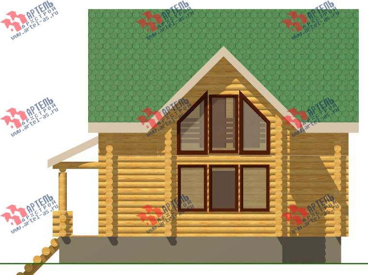 двухэтажный дом из оцилиндрованного бревна площадью от 100 до 150 кв. м. с  эркером, проект Вариант 1 фотография 3029