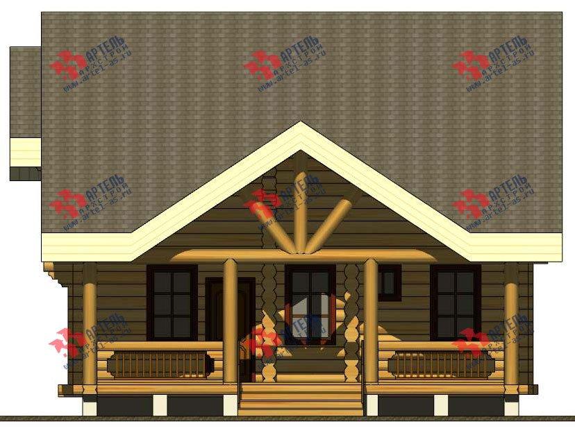 двухэтажный дом из оцилиндрованного бревна площадью от 100 до 150 кв. м. с  террасой, проект Вариант 4 фотография 3061