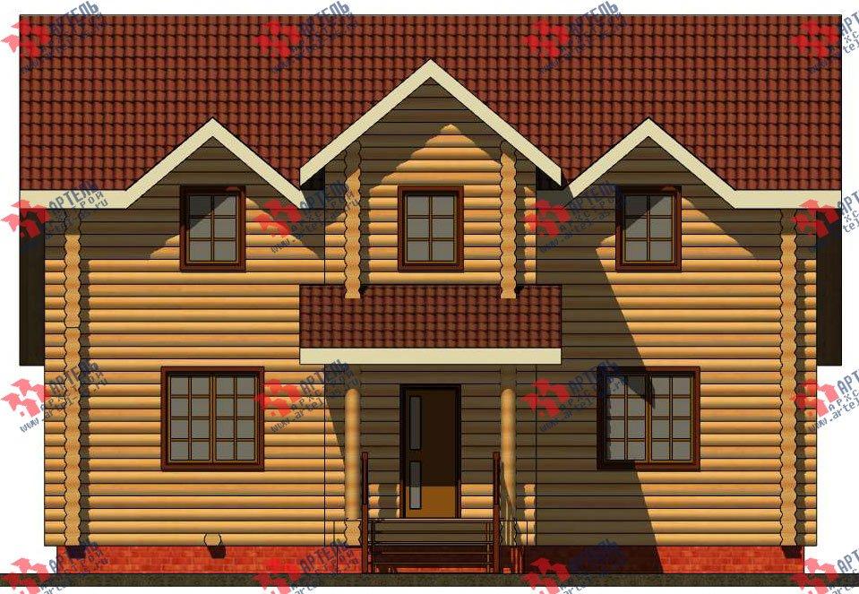 двухэтажный дом из оцилиндрованного бревна площадью от 100 до 150 кв. м. с  террасой, проект Вариант 6 фотография 3096