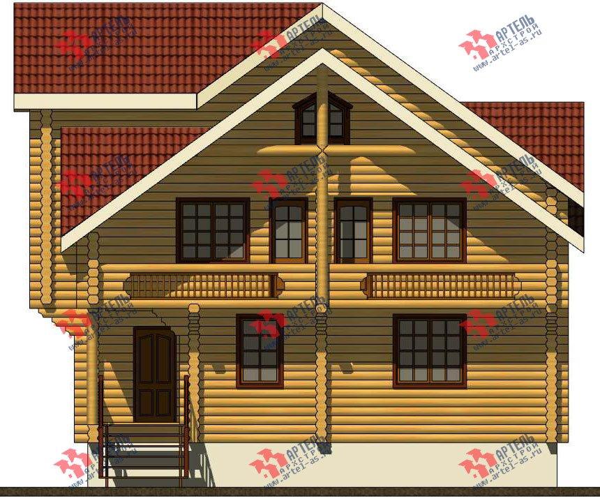 трёхэтажный дом из оцилиндрованного бревна площадью свыше 200 кв. м. с  балконом, террасой, проект Вариант 5 фотография 3084