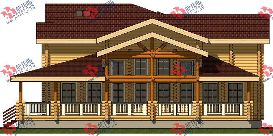 двухэтажный дом из оцилиндрованного бревна площадью свыше 200 кв. м. с  террасой, проект Вариант 8 фотография 3119