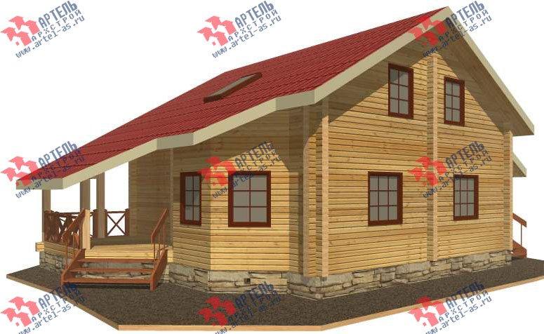 двухэтажный дом из профилированного бруса площадью от 150 до 200 кв. м. с  мансардой, террасой, проект Вариант 8.3 А фотография 3225