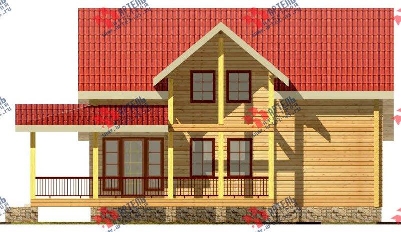 двухэтажный дом из профилированного бруса площадью от 150 до 200 кв. м. с  мансардой, террасой, проект Вариант 8.5 Л фотография 83