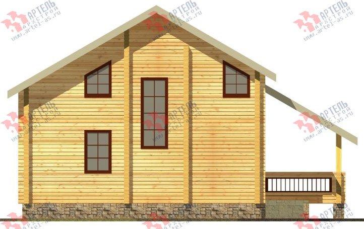 двухэтажный дом из профилированного бруса площадью от 150 до 200 кв. м. с  балконом, мансардой, террасой, проект Вариант 8.6 К фотография 332