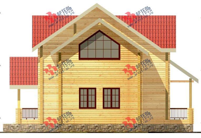 двухэтажный дом из профилированного бруса площадью от 150 до 200 кв. м. с  мансардой, террасой, проект Вариант 9.5 Т фотография 92