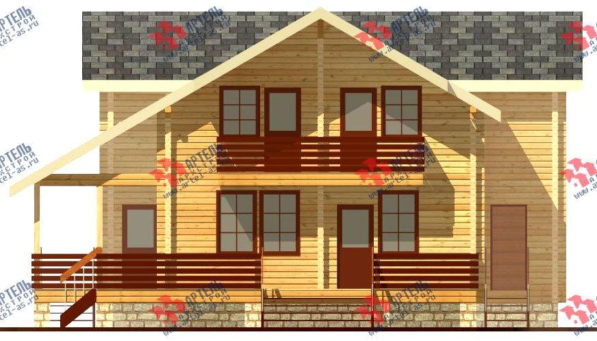 двухэтажный дом из профилированного бруса площадью свыше 200 кв. м. с  балконом, мансардой, террасой, эркером, проект Вариант 11 К фотография 432