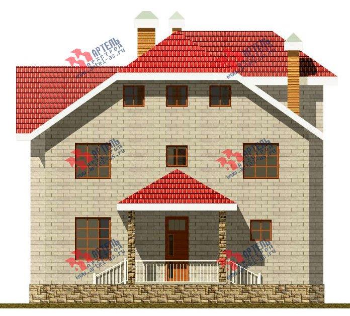 двухэтажный дом из камня площадью свыше 200 кв. м., проект Вариант 8 фотография 518
