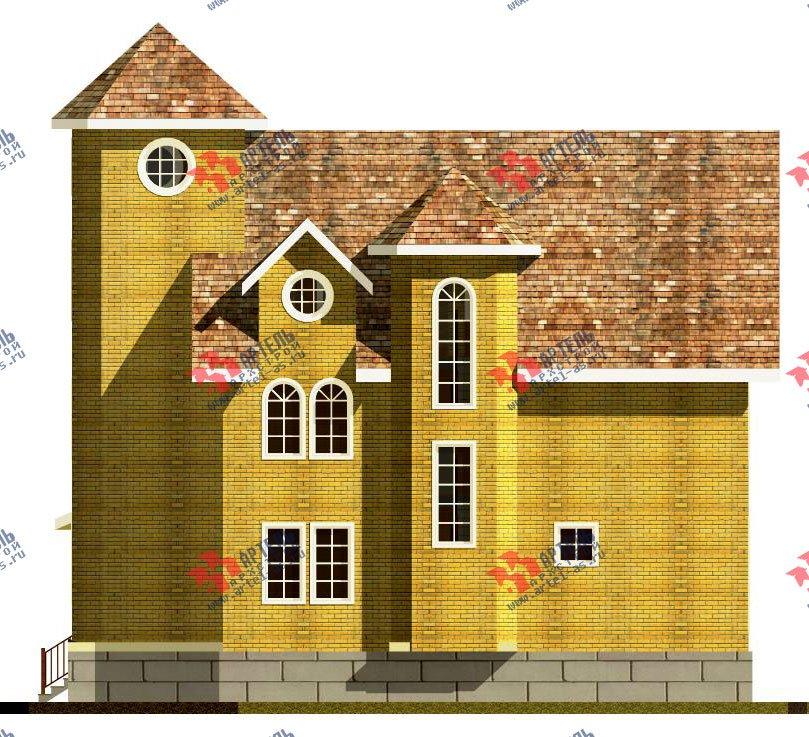 трёхэтажный дом из камня площадью свыше 200 кв. м. с  эркером, проект Вариант 20 фотография 648