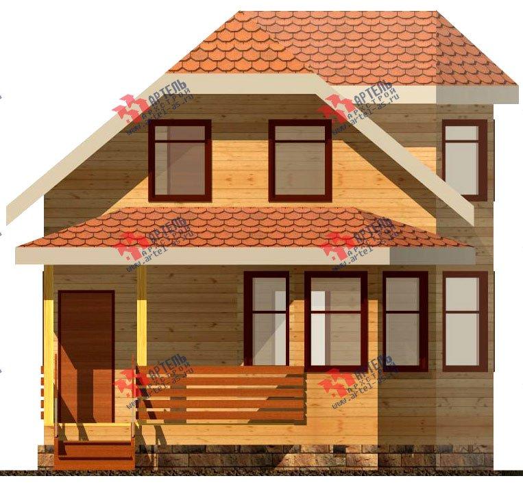двухэтажный дом из бруса площадью до 100 кв. м. с  мансардой, эркером, проект Вариант 6.2 А фотография 714