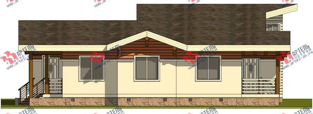 одноэтажный дом из профилированного бруса камерной сушки площадью от 150 до 200 кв. м. с  террасой, эркером, проект Вариант 5 фотография 2670